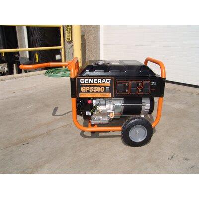 Generac Portable 5,500 Watt Gasoline Generator with Wheel Kit