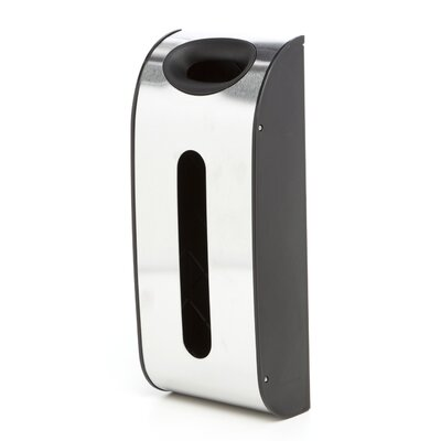 simplehuman Wall Mounted Grocery Bag Dispenser in Stainless Steel