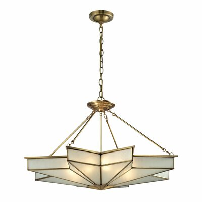 Decostar 8 Light Inverted Pendant by Elk Lighting