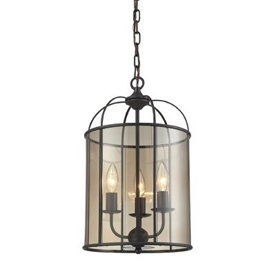 Fenton 3 Light Drum Chandelier by Elk Lighting
