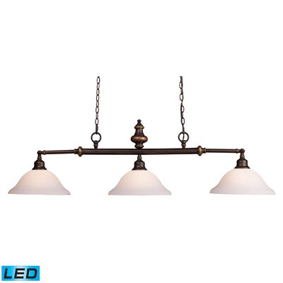 Lurray 3 Light Pool Table Light by Elk Lighting