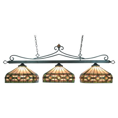 Tiffany Lighting/Billiard/Island 3 Light Pool Table Light by Elk Lighting