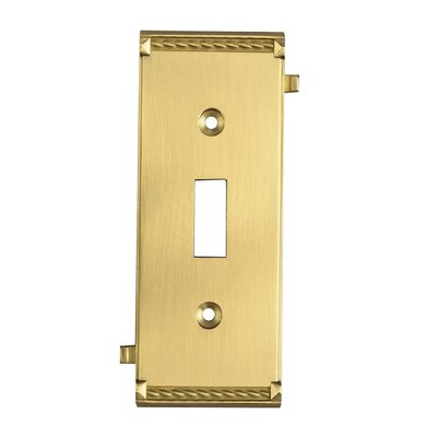 Elk Lighting Clickplates Small Middle Switch Plate in Brass