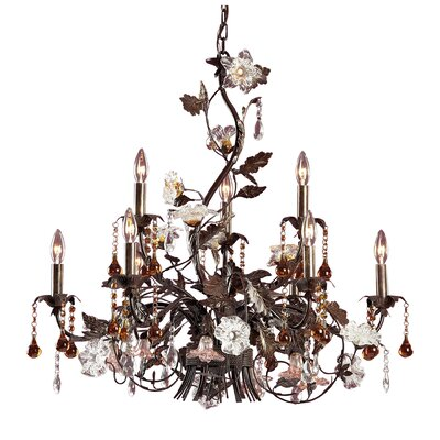 Cristallo Fiore 9 Light Candle Chandelier Product Photo