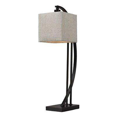"""Elk Lighting Overexposed 26"""" H Table Lamp with Square Shade"""