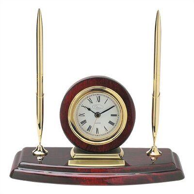 Ambassador Clock with Two Pens by Chass
