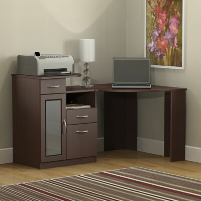 Bush Furniture Vantage Corner Computer Desk in Harvest Cherry