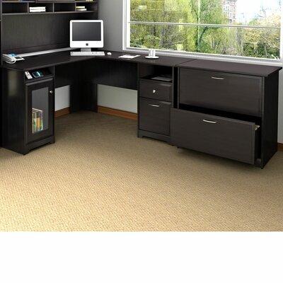 Bush Furniture Cabot L-Shape Executive Desk Office Suite