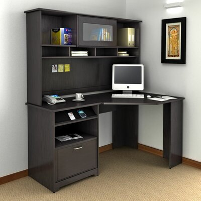 Bush Furniture Cabot Corner Computer Desk with Hutch