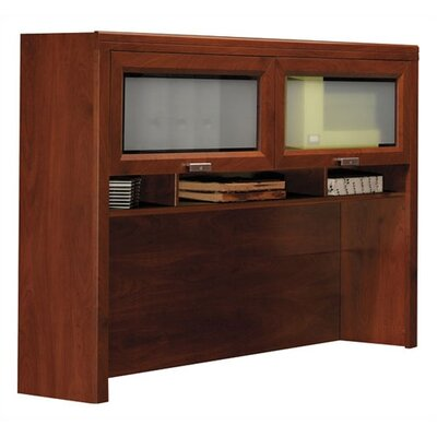 Bush Furniture Tuxedo L-Shape Desk with Hutch