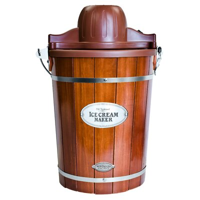 Nostalgia Electrics Old Fashioned Wood Ice Cream Maker