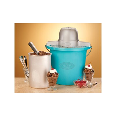 Nostalgia Electrics 4 Qt. Plastic Bucket Ice Cream Maker