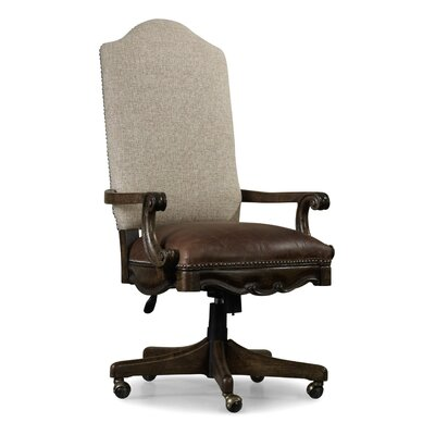 Rhapsody High-Back Leather Executive Chair with Arms by Hooker Furniture