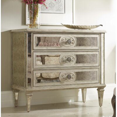 3 Drawer Antique Mirrored Chest by Hooker Furniture