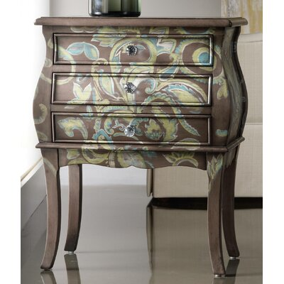 Melange Paisley 3 Drawer Accent Chest by Hooker Furniture
