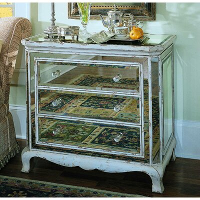 3 Drawer French Mirror Chest by Hooker Furniture