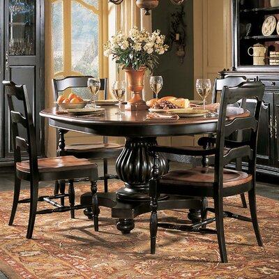 Indigo Creek Pedestal Dining Table in Black by Hooker Furniture