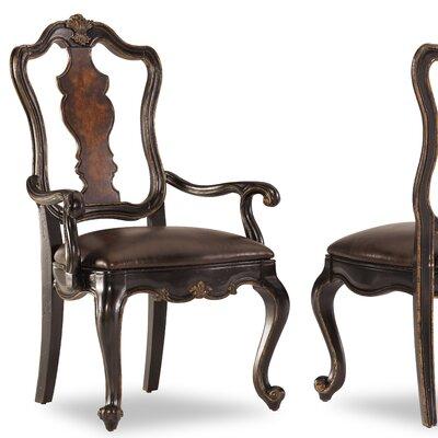 Hooker Furniture Grandover Splatback Leather Arm Chair