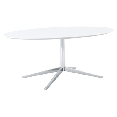 Knoll ® Florence Knoll Dining Table in Satin Chrome