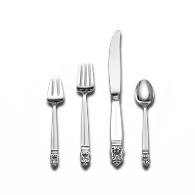 International Silver Sterling Silver Royal Danish 4 Piece Dinner Flatware Set