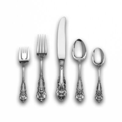 Wallace Sterling Silver Sir Christopher 46 Piece Flatware Set