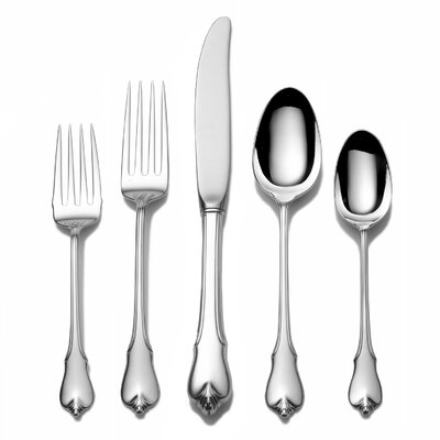 Wallace Grande Colonial 5 Piece Flatware Set with Dessert Spoon