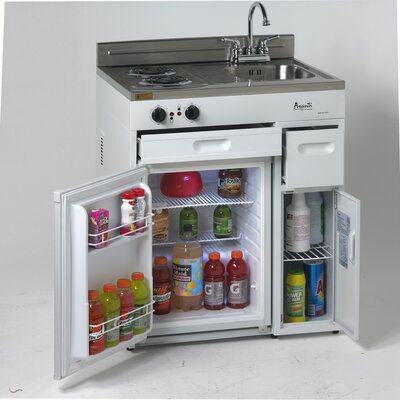 2 2 Cu Ft Compact Refrigerator With Complete Kitchen