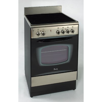 Electric Convection Range in Black Product Photo