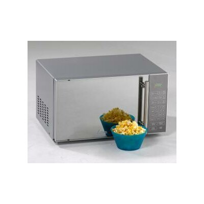 0.8 Cu. Ft. 700W Countertop Microwave in Mirrored Product Photo