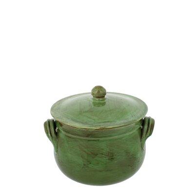 2-quart Cilantro Green Stoneware Bean Pot by French Home