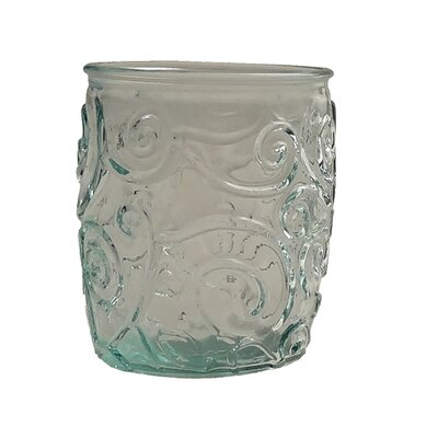 Mediterranean Wave 14-ounce Ice Clear Tumbler by French Home