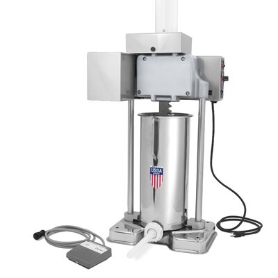 TSM Products 30 lbs Capacity Motorized Stainless Steel Stuffer