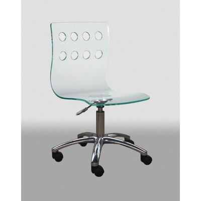 Creative Images International Low-Back Acrylic Office Chair