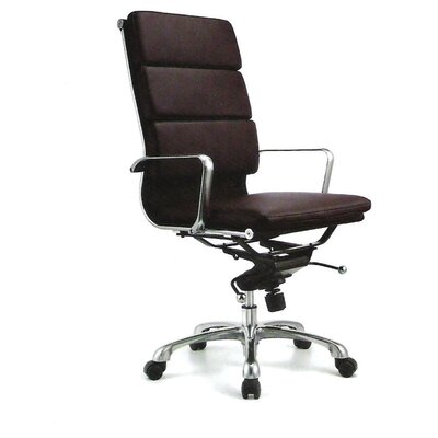 High Back Leatherette Padded Office Chair with Chrome Base by Creative Images International