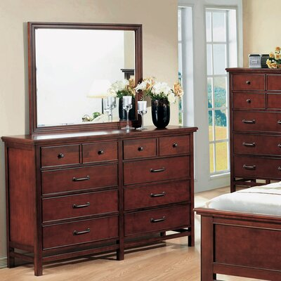 Willow Creek 10 Drawer Dresser with Mirror by Winners Only, Inc.