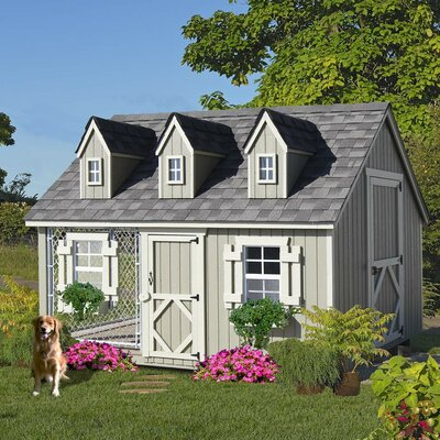 Cape Cod Cozy Cottage Kennel Dog House by Little Cottage Company, High quality siding and trim refastened onto wall panels (ensures panels are square)