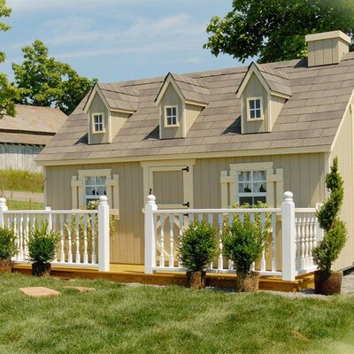 Little Cottage Company Cape Cod Playhouse Kit with No Floor