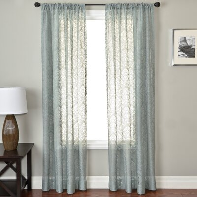 Softline Home Fashions Badi Medallion Rod Pocket Single Curtain Panel