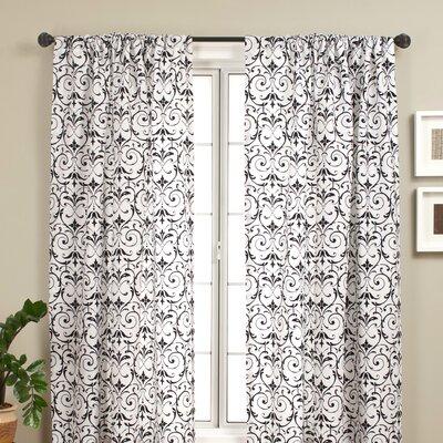 Cerise Rod Pocket Panel in White / Black Product Photo