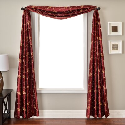 Softline Home Fashions Mattie Window Scarf in Merlot