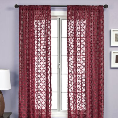 Mezzo Rod Pocket Panel in Merlot Product Photo