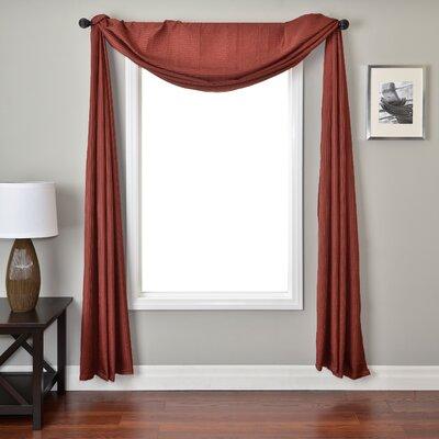 Softline Home Fashions Iris Single Window Scarf