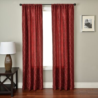 Abbey Rod Pocket Panel in Merlot Product Photo
