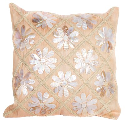Sea Side Flower Shells Throw Pillow by Debage Inc.