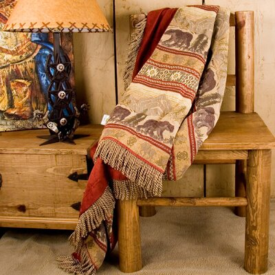 HiEnd Accents Bear Reversible Throw Blanket