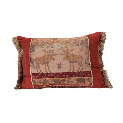 HiEnd Accents Moose Lumbar Pillow