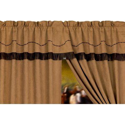 """HiEnd Accents Barbwire Rod Pocket Ruffled 84"""" Curtain Valance"""