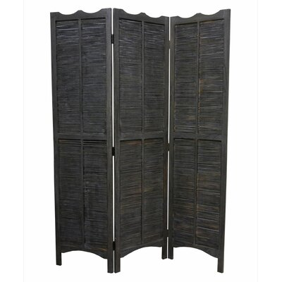 "Screen Gems 67"" x 52"" Madras 3 Panel Room Divider"