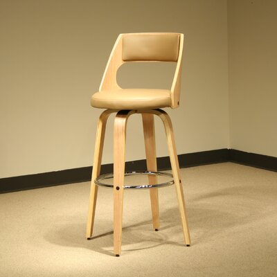 Swivel Bar Stool with Cushion by AC Pacific