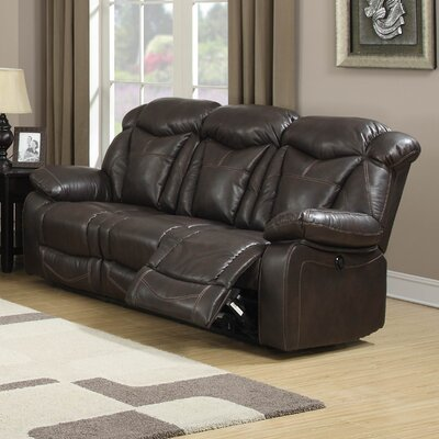 Otto Leather Reclining Sofa by AC Pacific